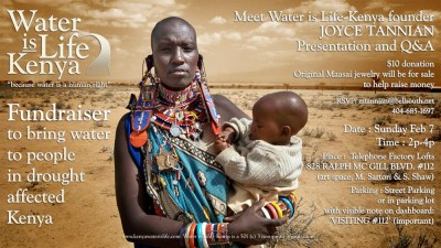 Water if Life FUNDRAISER Feb. 7 2p-4p